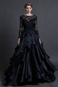 popular black gothic wedding dresses aliexpress With long black dress for wedding