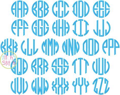 natural circle large monogram embroidery font