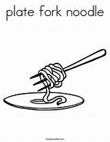 Coloring Noodle Fork Plate Noodles Twisty Built California Usa Twistynoodle sketch template