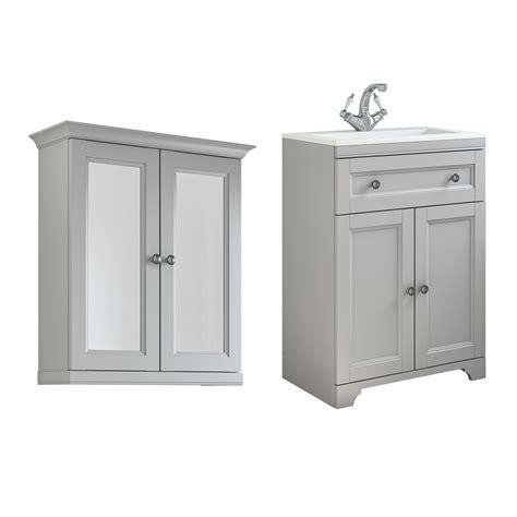 cooke lewis chadleigh matt light grey vanity unit