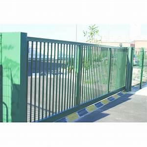 Portail Coulissant Sur Rail : portail coulissant sur rail ou autoport porteo motoris ~ Edinachiropracticcenter.com Idées de Décoration