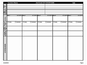 2nd grade common core weekly lesson plan template ela With fundations lesson plan template