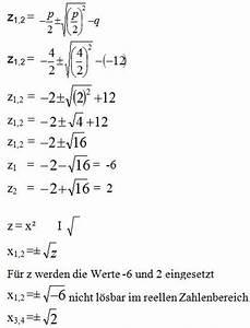 Nullstellen Berechnen Pq Formel : substitution mathe erkl rung beispiel nullstellen ~ Themetempest.com Abrechnung