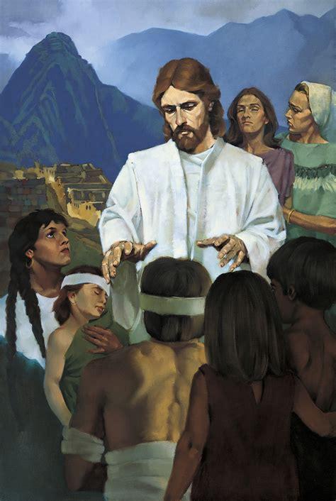 jesus healing  nephites