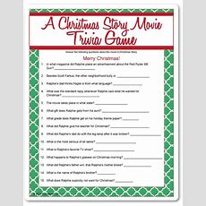 Printable A Christmas Story Movie Trivia  Funsationalcom  Christmas  Pinterest  A Christmas