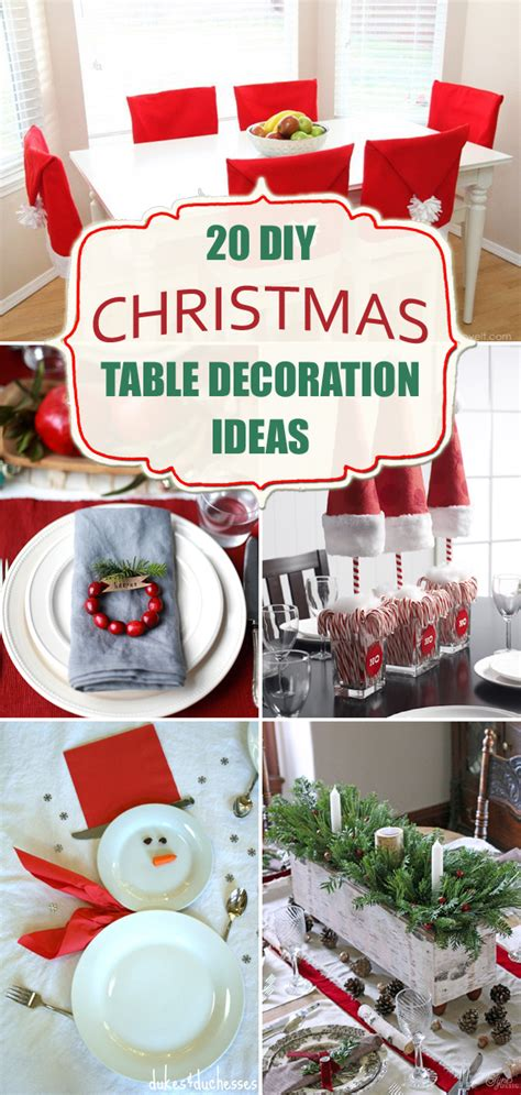 amazing diy christmas table decoration ideas
