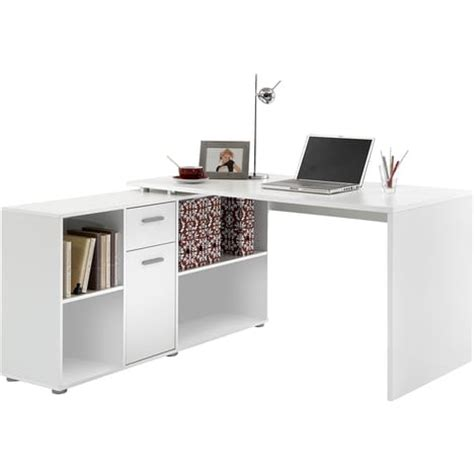 pc bureau auchan bureau d 39 angle réversible flex avec rangements pas cher à