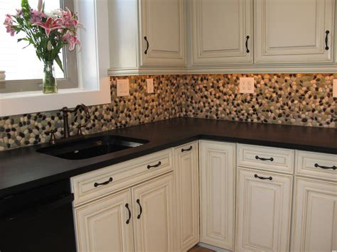 kitchen backsplash stick on tiles peel and stick mosaic tile backsplash with classic pebble tile river rock grey