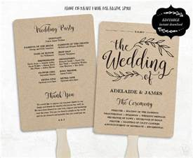 rustic wedding fan programs wedding program template 61 free word pdf psd