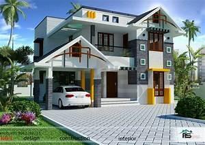 1800sqft, Mixed, Roof, Kerala, House, Design