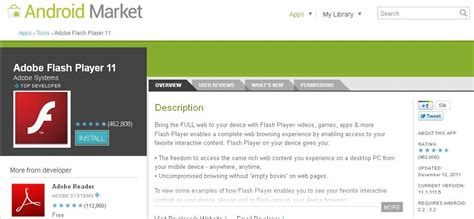 flash for android adobe flash player for android updated fixes various