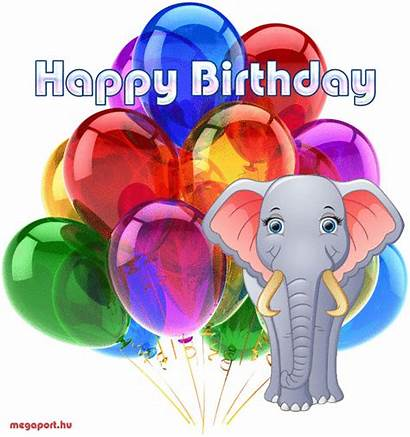 Birthday Happy Animated Ecard Megaport Elephant Hu