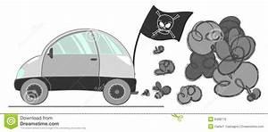 Car pollution stock vector. Image of vector, grey, traffic ...