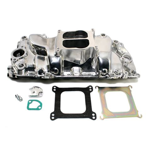 chevy big block oval port polished intake manifold