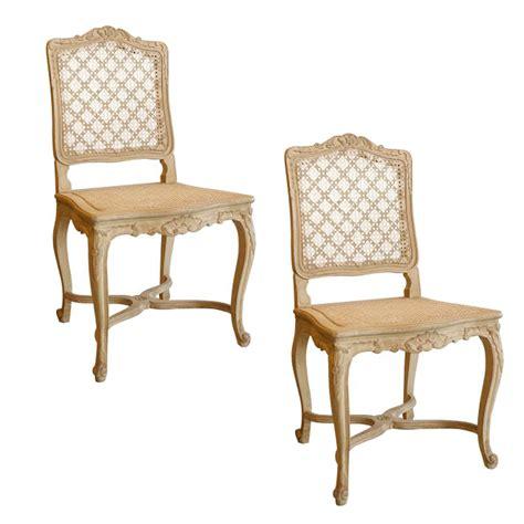 pair of louis xv style dining chairs on antique