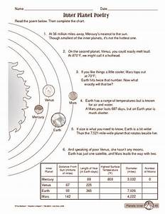 Inner Planets Worksheet (page 2) - Pics about space