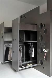 armoire rangement chambre couleur chambre fille bebe 12 With rangement pour petite chambre