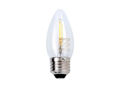 Satco Led Filament Ls by Satco Dimmable 2 5w 2700k C11 Decorative Filament Led Bulb