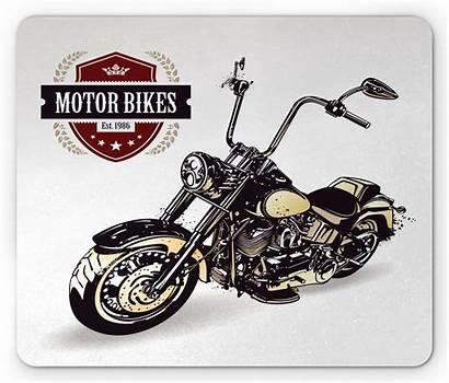 Motorcycle Mouse Ambesonne Non Pad Insignia Mousepad