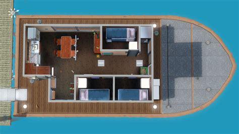 Hausboot Zum Wohnen by Hausboot Zum Wohnen Grundriss 1 Deck Simension