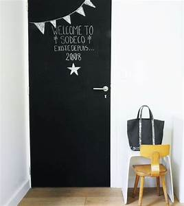 Habiller Une Porte Intérieure : tableau noir et peinture ardoise dans une chambre d 39 enfant ~ Dailycaller-alerts.com Idées de Décoration