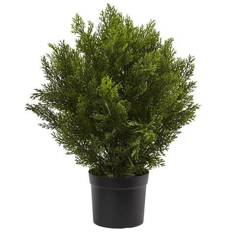 artificial plants for home nearly 2 ft cedar bush indoor outdoor 6880 4188