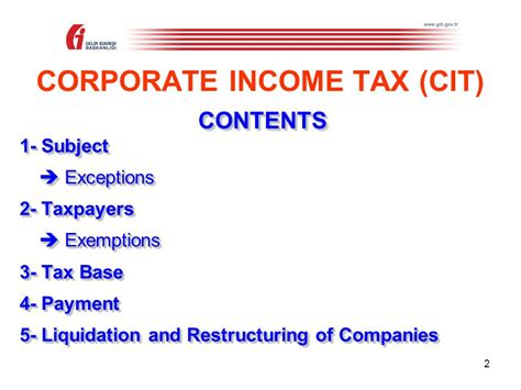 Corporate Income Tax (law No