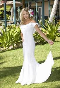 simple beach wedding gown for great casual wedding ipunya With hawaiian wedding dresses casual