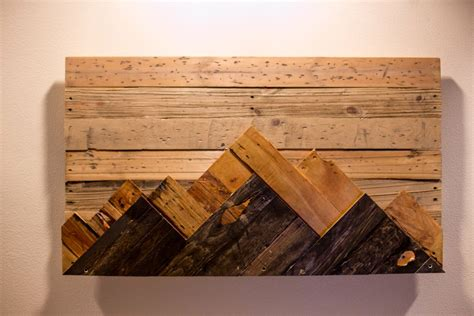 wooden mountain range wall art home wall art wood