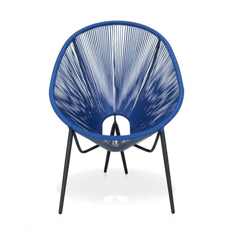 chaises alinea cuisine alinea 90 fauteuil de jardin rétro en fils scoubidou bleu