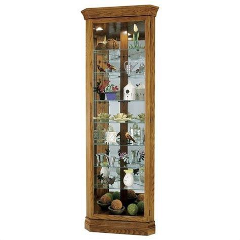 oak curio cabinets for howard miller legacy oak dominic corner curio cabinet