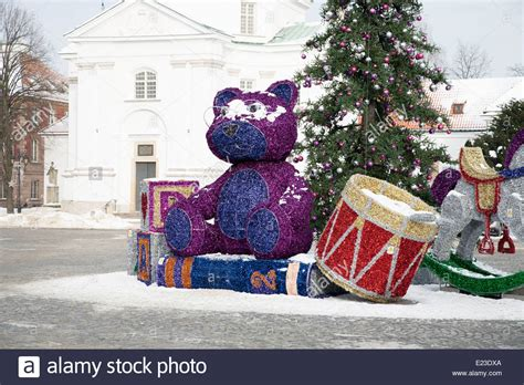 large scale exterior christmas decorations  warsaw
