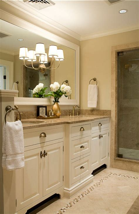 master bathroom cabinet ideas cabinets and large framed mirror pretty hardware as