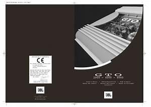 Jbl Gto 4000  Serv Man3  User Guide    Operation Manual