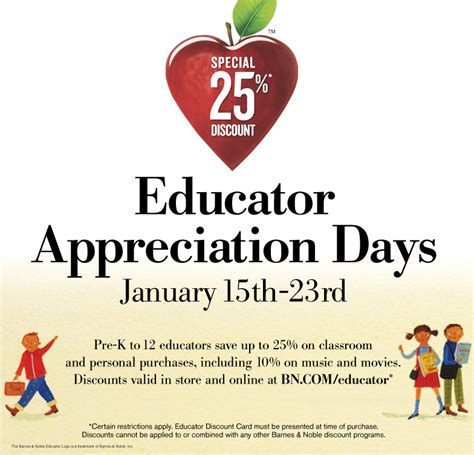 barnes and noble educator educator appreciation days barnes noble