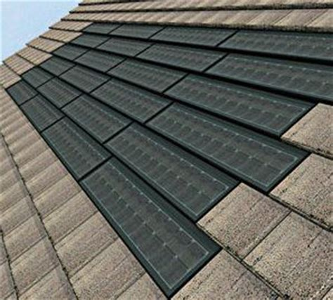 solar roof tiles solar power used for battery power storage