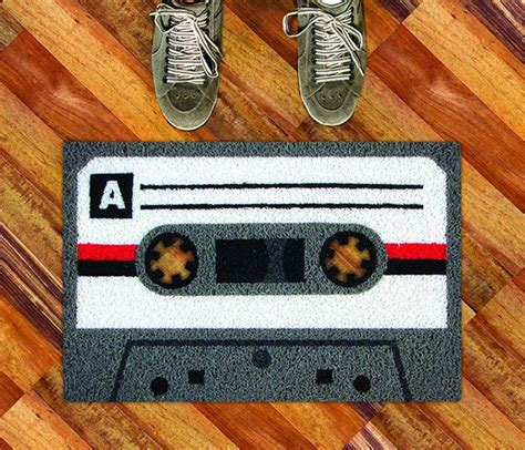 cassette doormat doormat ideas welcome your friends with humour