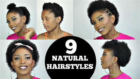 back to school easy 9 short natural hairstyles rant