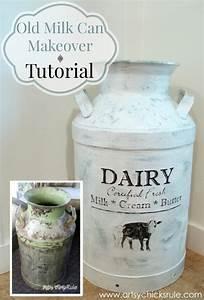 milk can makeover tutorial artsy rule