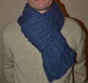 Echarpe Homme Tricot : comment tricoter une jolie charpe d 39 hiver pour homme ~ Melissatoandfro.com Idées de Décoration