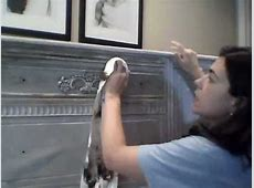 Waxing Furniture with Dark and Clear Wax over Annie Sloan