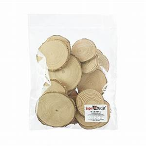 Mini Assorted Size Natural Color Tree Bark Wood Slices