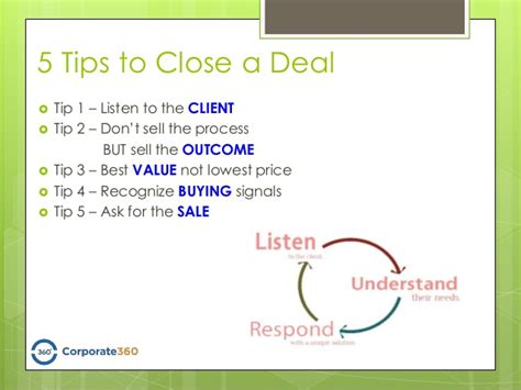 5 Tips To Close A Deal