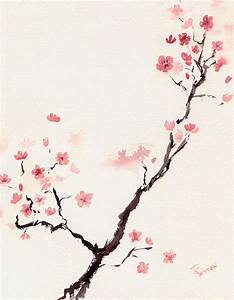 Cherry Blossom 3 by Rachel Dutton Watercolor   Products I ...