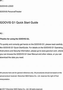 Ned Optics Co Goovisg1 Personal Theater User Manual Users