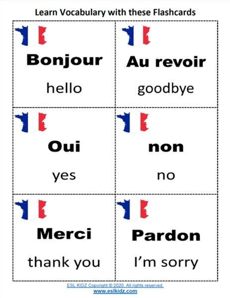 French Vocabulary in 2020   Basic french words, Classroom ...