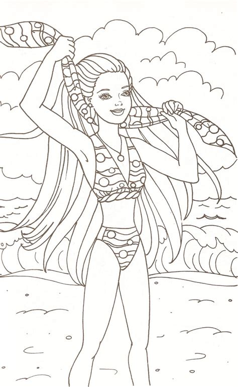 part two of a barbie coloring book barbie outdoor