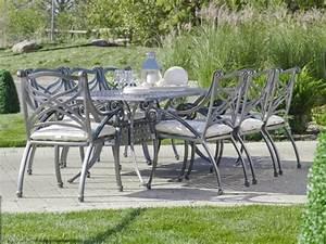 Salon Jardin Aluminium : salon jardin aluminium espace exterieur accueil design et mobilier ~ Teatrodelosmanantiales.com Idées de Décoration