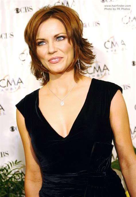 martina mcbride s easy neck length hairstyle with a back