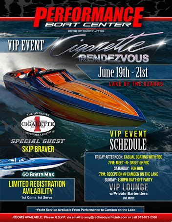 Performance Boats Lake Of The Ozarks by Performance Boat Center Hosting Cigarette Rendezvous